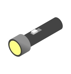 Flashlight isometric 3d icon vector