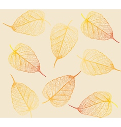 Fresh colorful leaves background vector image vector image