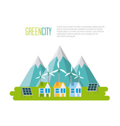 Green city sustainable development with vector
