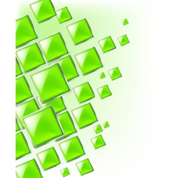 Green Square background abstract of techno vector image vector image