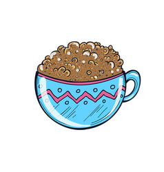 hand drawn of coffee cup milkshake vector image vector image
