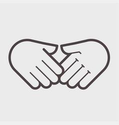 Hand shake gesture symbol agreement vector
