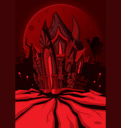 Hell castle vector