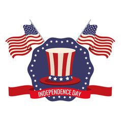 independence day usa celebration patriotic vector image