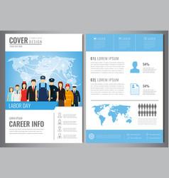 international labor day brochure design template vector image