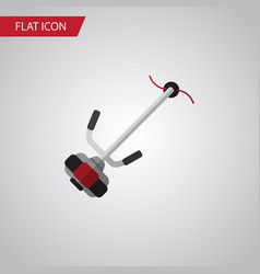 Isolated lawn mower flat icon grass-cutter vector