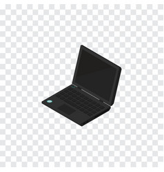 Isolated portable computer isometric laptop vector