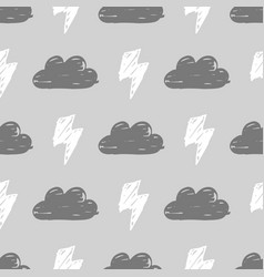 Monochrome storm pattern vector
