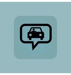 Pale blue car message icon vector