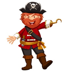 Pirate with hand of hook vector image