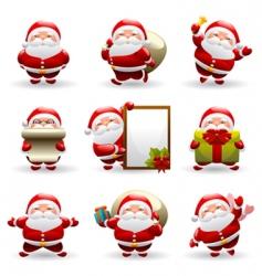 Santa Claus set vector image vector image