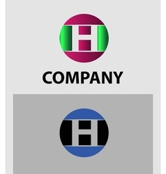 Set of letter H logo icons design template element vector image vector image