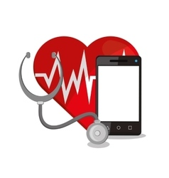 Smartphone and medical care design vector