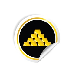 Sticker of gold bullion vector