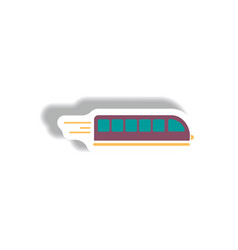 Stylish icon in paper sticker style high-speed vector