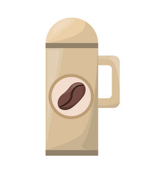 thermo with coffee drink vector image vector image