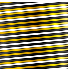 White black and golden stripes design vector