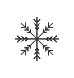 Snowflake winter merry christmas icon vector