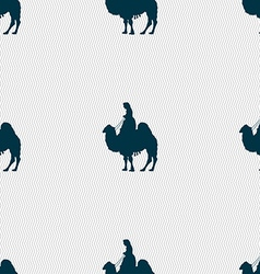Camel sign Seamless pattern with geometric texture vector image