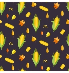 Corn seamless pattern  maize vector