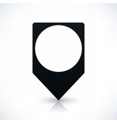 Black square map pins sign flat location icon vector