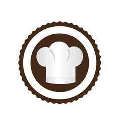 color circular frame with chef hat vector image
