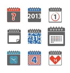 Calendar web icons collection vector image
