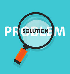 Problem solution solving concept business analysis vector