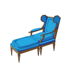 Classic lounge chair vector
