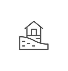 landscape design line icon vector image