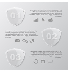 Glass shield infographic vector