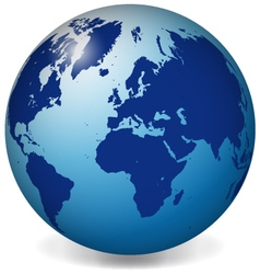 Blue earth globe vector