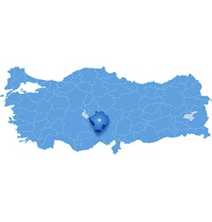 Map of turkey nigde vector