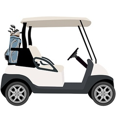 Golf cart vector image