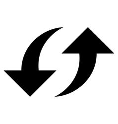 Exchange Arrows Flat Icon vector image
