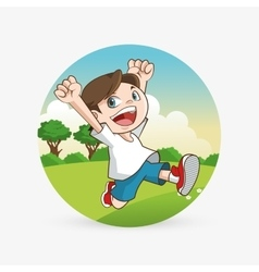 Kid icon child design childhood concept vector