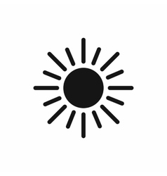 Sun icon simple style vector