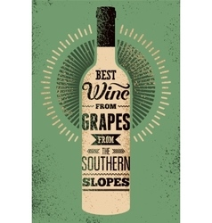 Typographic retro grunge wine poster vector