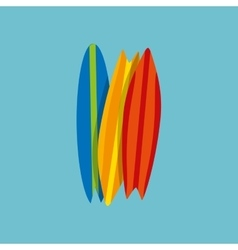 Vacation surf beach recreation game vector
