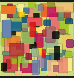 Abstract colorful background pattern of squares vector