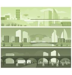 Banners modern landscapes vector image