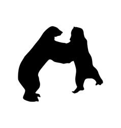 Bear black silhouette vector image