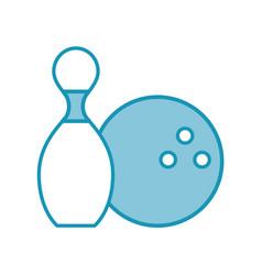 blue pin and ball cartoon vector image
