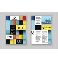 Brochure template design concept of square design vector