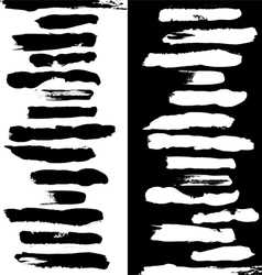 Brushes black a white vector image vector image