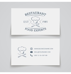 Business card template for restaurant vector image vector image