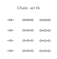 Chain set four vector image