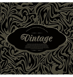 dark vintage abstract background vector image vector image