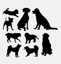 Dog pet animal silhouette 7 vector image vector image