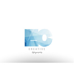 Ec e c blue polygonal alphabet letter logo icon vector